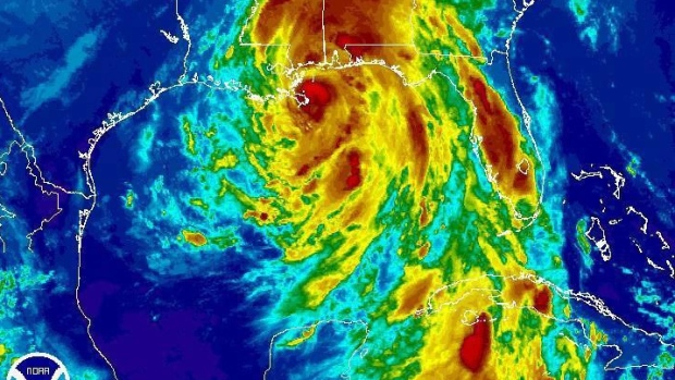 Nate downgraded to tropical storm, makes 2nd landfall in U.S.