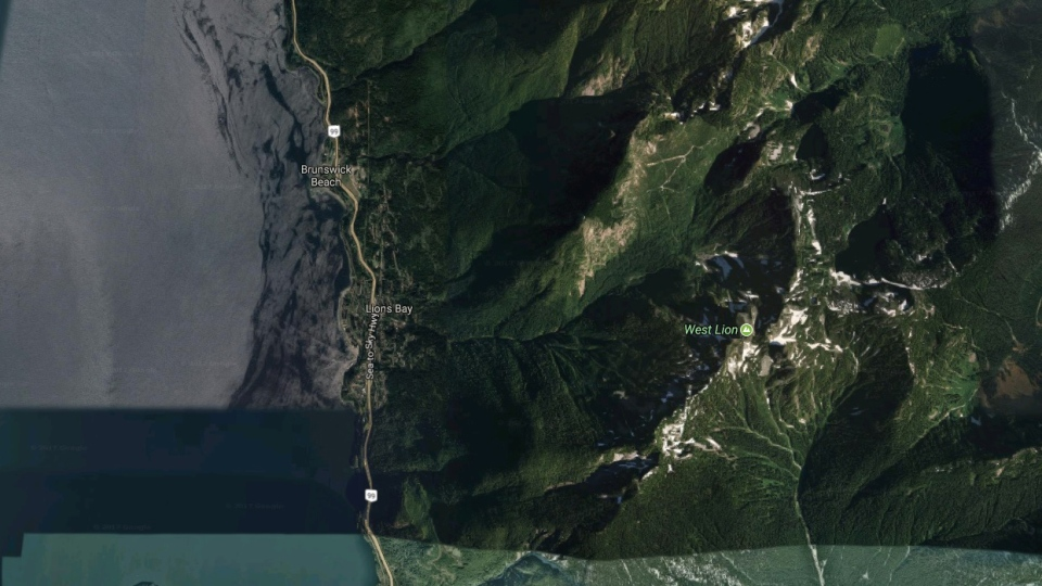 Mount Harvey is seen in this screenshot from Google Maps.