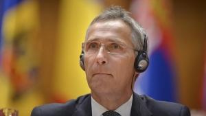 NATO Secretary General Jens Stoltenberg at the NATO Parliamentary Assembly session in Bucharest, Romania, onOct. 9, 2017. (/Andreea Alexandru / AP)