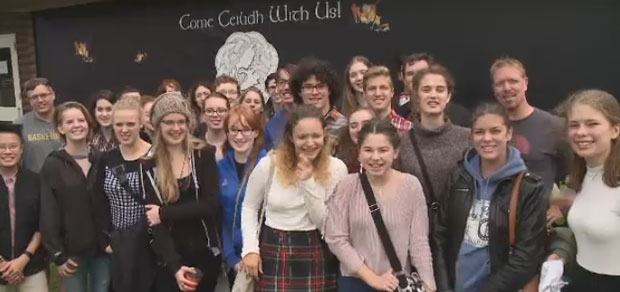 A group of 40 high school students and chaperones from Kitchener, Ontario, took in the Celtic Colours International Festival on Sunday, Oct. 8, 2017.