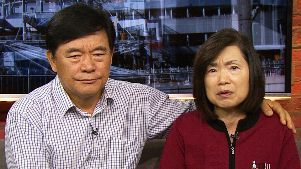Eugene Kim's parents, Yeon Soo Kim (left) and Myung Sook Kim (right), made an emotional plea for their missing son to return home on Oct. 9, 2017. (CP24)