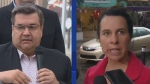 Denis Coderre and Valerie Plante were on the campaign trail on Monday, with Coderre pushing the importance of cyclist safety and Plante announcing part of her economic plan.