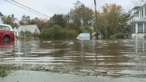 A flash flood that brought in a record 225 millimetres of rain poured down on Cape Breton on Oct. 10, 2016.