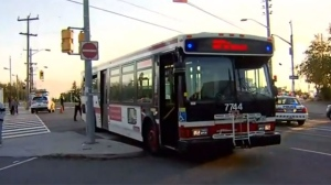 A file photo of a Toronto Transit Commission bus