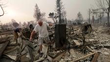 Wildfire damage in Santa Rosa, Calif.