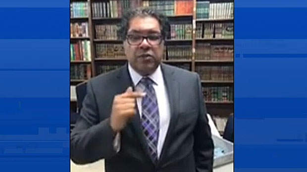 In an online video posted last week, the incumbent mayor Naheed Nenshi says there are fake social media accounts targeting his campaign. (Supplied)