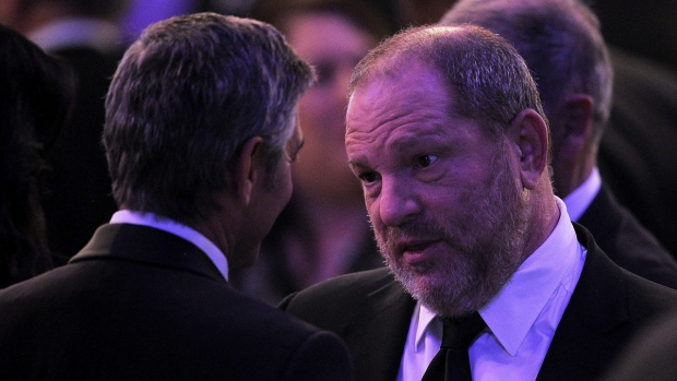 George Clooney and Harvey Weinstein in 2012