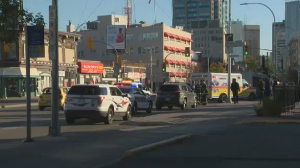 Portage Avenue closed