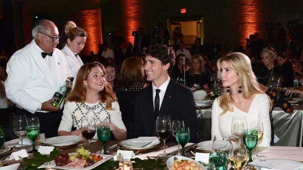 Justin Trudeau and Ivanka Trump