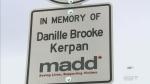 Roadside memorial for drunk-driving victim unveile