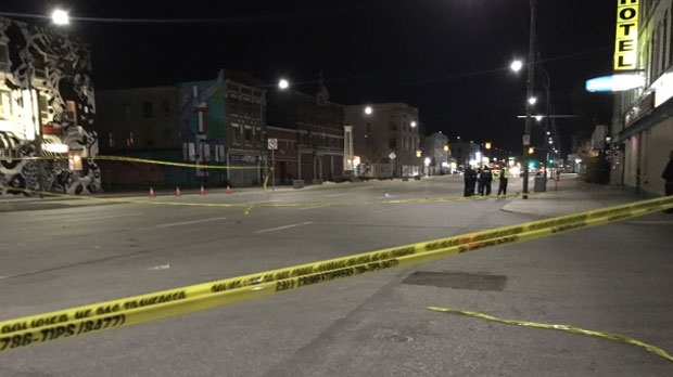 Police were called to the area of Main Street and Sutherland Avenue at about 8 o'clock Tuesday night.