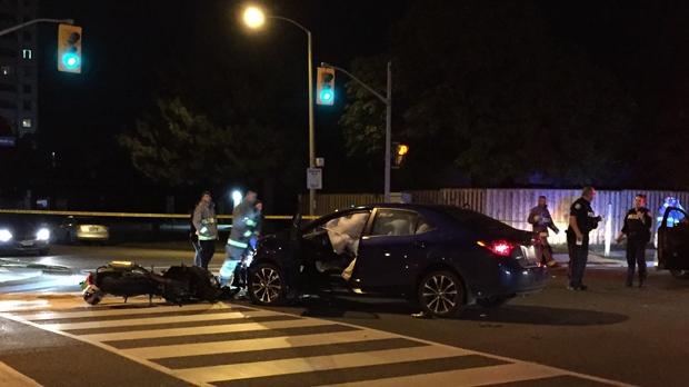 motorcyclist, injured