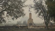 Wildfire damage in Kenwood, Calif.