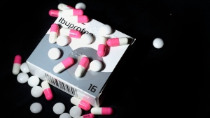 File photo of ibuprofen tablets.