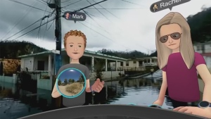 Mark Zuckerberg and another Facebook executive discussed the platform's virtual reality project through avatars in a video recorded live Monday.
