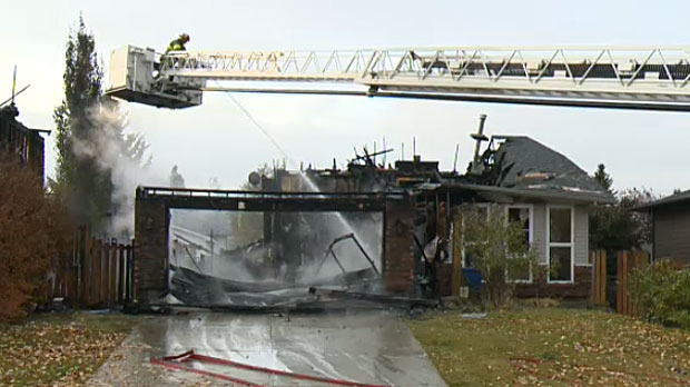 Residents in the area say a family in one of the homes that caught fire on Wednesday morning had only just moved in.