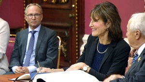 Kathleen Weil is appointed Quebec Minister of Anglo affairs, in Quebec City, Wednesday, Oct. 11, 2017.