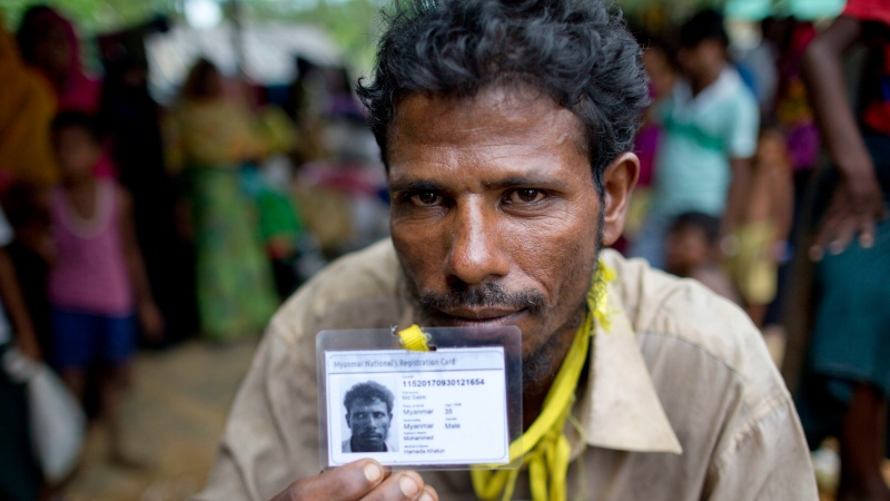 Unrecognized at home, Rohingya refugee receives first ID card