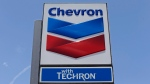This Tuesday, May 2, 2017, photo shows a Chevron sign at a gas station in Miami. (AP / Alan Diaz)