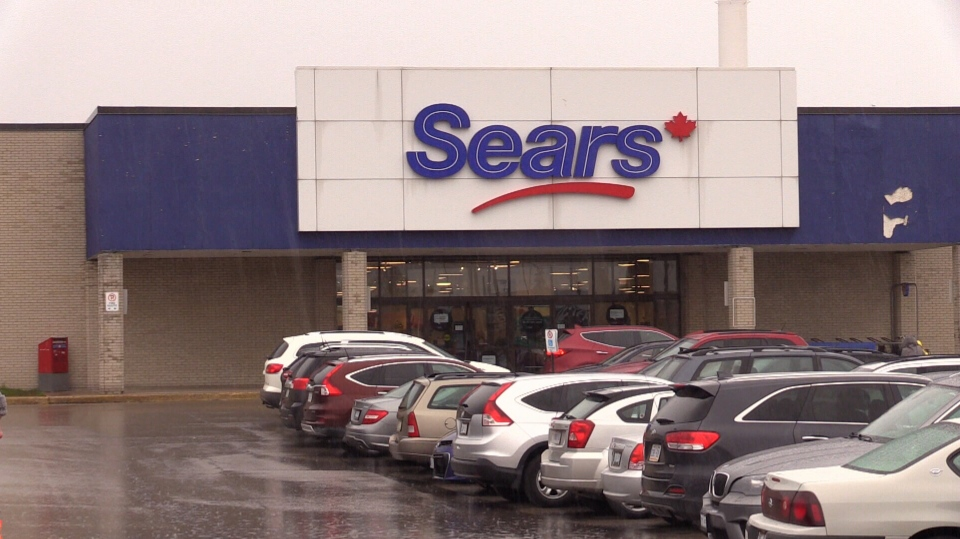 Sears Canada can be seen at Georgian Mall in Barrie, Ont. on Wednesday, Oct. 11, 2017. (Mike Arsalides/ CTV Barrie)