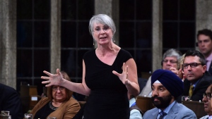 Minister of Employment, Workforce Development and Labour Patty Hajdu stands during question period in the House of Commons on Parliament Hill in Ottawa on Sept. 19, 2017. (THE CANADIAN PRESS / Sean Kilpatrick)