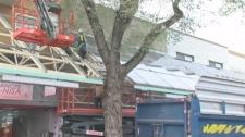 Awnings over Plaza St-Hubert