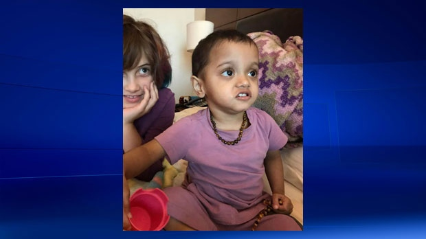 Opal Walker, 2, awaits a Canadian visa to allow her to travel with her mother and sister from India to Canada (photo: Walker family)