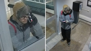Police released stills taken from surveillance footage showing Jasper Halfe, 19, a suspect believed to have stolen a cell phone from a woman in the area of 16 Ave. and 48 St. early Wednesday, October 4. Supplied.