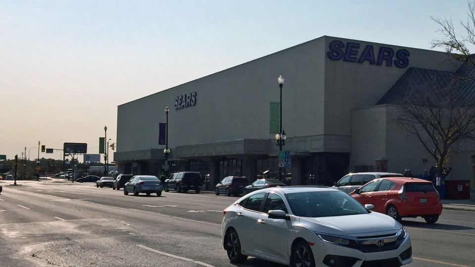 The Sears space of Saskatoon's Midtown Plaza could soon be vacant. (Laura Woodward/CTV Saskatoon)