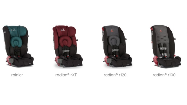 Four car seats affected by the Diono recall are shown in this image from the company's U.S. website.