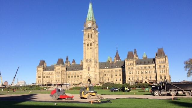 Hockey rink on Parliament Hill