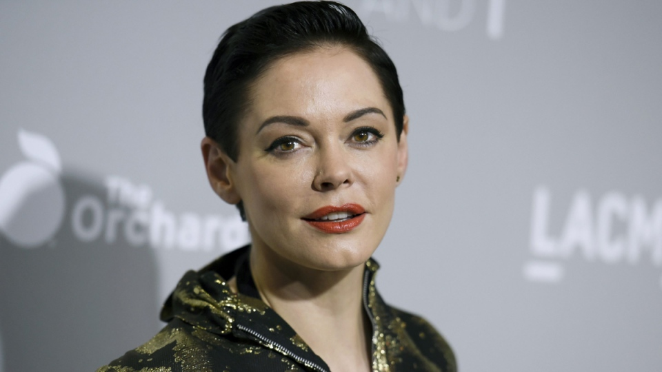 Rose McGowan in Los Angeles, on April 15, 2015. (Richard Shotwell / Invision / AP)