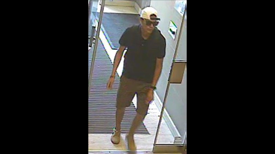Robert Cropearedwolf, 38,  appear in this image taken from security camera footage. (Toronto police handout)