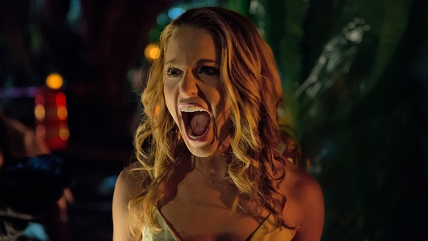 Jessica Rothe in Happy Death Day (2017). Photo by Patti Perret - © 2017 - Universal Pictures