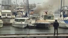 boat fire in false creek