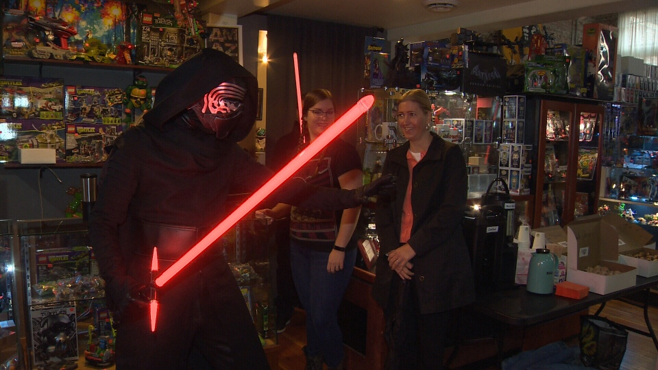 Kylo Ren was just one of many characters in attendance at the announcement of the inaugural Capital City Comic Con, slated to take place in Victoria next March. Oct. 12, 2017. (CTV Vancouver Island)