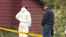 The Emergency Response Team and a K9 unit were outside a home on Petersen and Shetland Roads. Oct. 12, 2017 (CTV Vancouver Island)