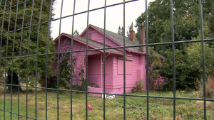 Pink house in Fort Langley