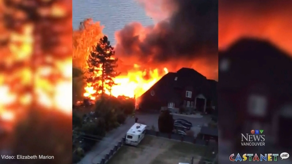 95-year-old B.C. woman believed dead after fire destroys home