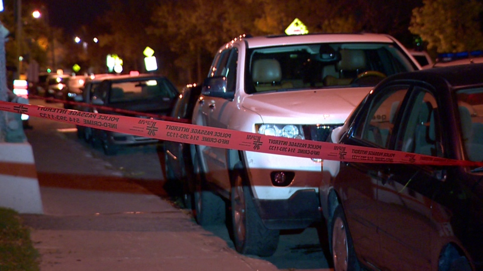 The white SUV used in the hit and run was located on Des Carrieres St. on Friday Oct. 13, 2017 (CTV Montreal/Cosmo Santamaria)