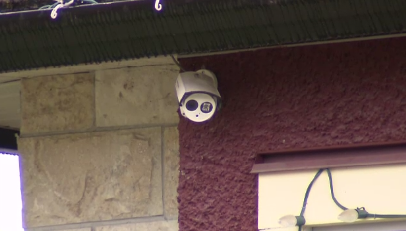 The footage was captured by a home's security camera on a residential street in Burnaby, B.C. in August.