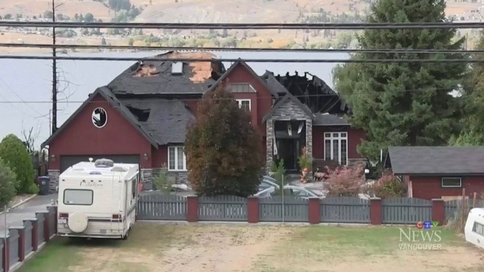 The body of a 95-year-old woman is believed to be among the ashes of her Penticton, B.C. home after flames gutted the house early Wednesday evening. (CTV)