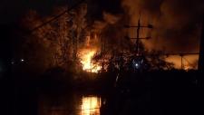 Mitchell Island fire
