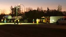 College Drive tanker rollover