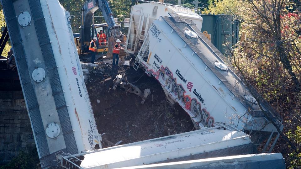 No injuries in Quebec train derailment