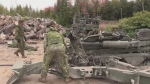 Soldiers train in Wasaga Beach