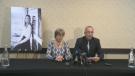 Tara Roe's father, Mark Smith, speaks in Brandon