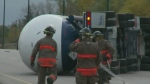 College Drive reopened after tanker rollover