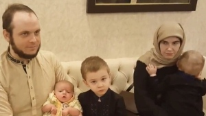 Joshua Boyle, his American wife Caitlan Coleman and their three children were freed from captivity in October. (Pakistani Defence/Facebook)
