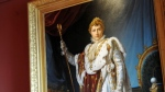 Painting by François Pascal Simon representing Corsica's Born French Emperor Napoleon Bonaparte 1 in his coronation suit. STEPHAN AGOSTINI / AFP